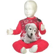 Fun2wear meisjes pyjama 'Puppy' fuchsia